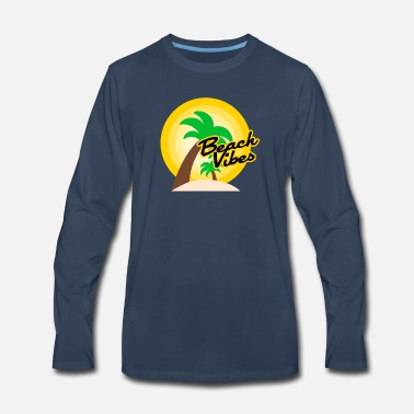 Beach vibes t-shirt summer - Men's Premium Longsleeve Shirt