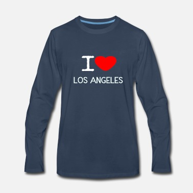 Angeles I LOVE LOS ANGELES - Men's Premium Longsleeve Shirt