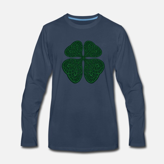 Game Long-Sleeve Shirts - Celtic Luck - Men's Premium Longsleeve Shirt navy