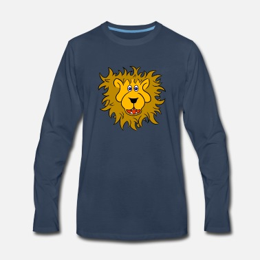 Lion Head Lion head of a friendly lion - Men's Premium Long Sleeve T-Shirt