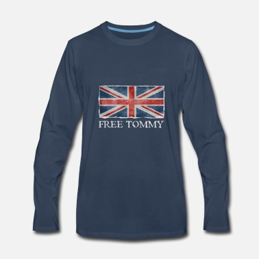 Tommy Free Tommy Robinson Flag - Men's Premium Longsleeve Shirt