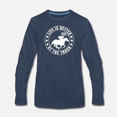 Racing Horse Racing | Horse Race Derby Gift for Jockey - Men's Premium Longsleeve Shirt