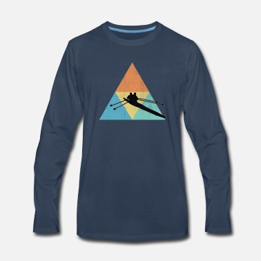 Rowing Rowing triangle - Men's Premium Long Sleeve T-Shirt