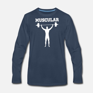 Muscular muscular - Men's Premium Long Sleeve T-Shirt