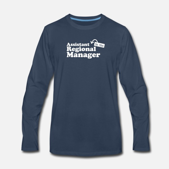 The Office Long-Sleeve Shirts - Assistant to the Regional Manager - Men's Premium Longsleeve Shirt navy