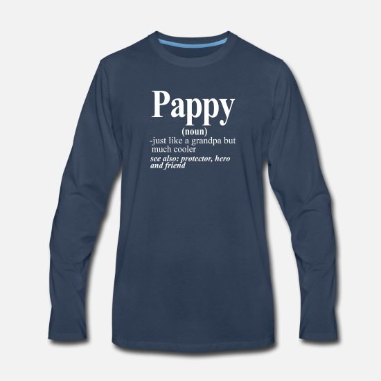 Pappy Long-Sleeve Shirts - Pappy - Men's Premium Longsleeve Shirt navy