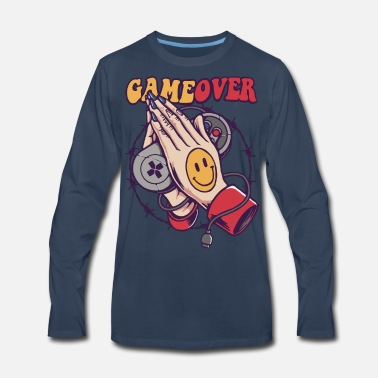 Game Over Smiley Game Over - Men's Premium Longsleeve Shirt