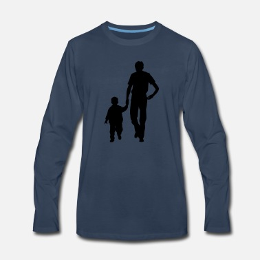 Father Walking father and son - Men's Premium Longsleeve Shirt