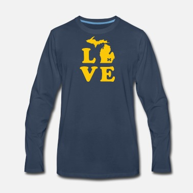 Maize Love for A-maize-ng Michigan - Men's Premium Long Sleeve T-Shirt
