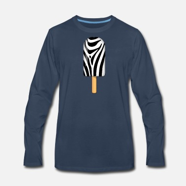 Zebra Stripes Zebra Ice Popsicle - Men's Premium Long Sleeve T-Shirt