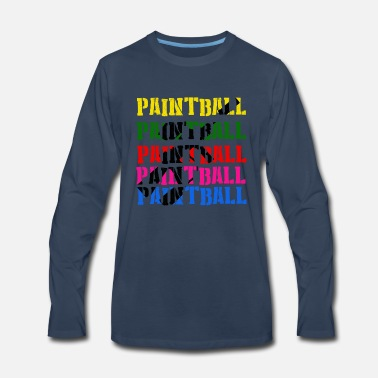Paintball Paintball - Sport Hobby Outdoor Pain - Men's Premium Longsleeve Shirt