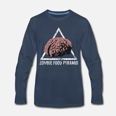 Zombie Food Pyramid - Men's Premium Longsleeve Shirt