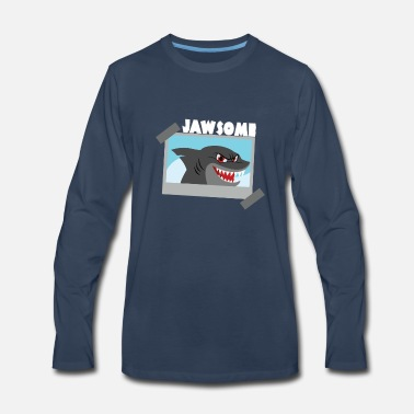 Jaws Jawsome - Premium Design - Men's Premium Long Sleeve T-Shirt