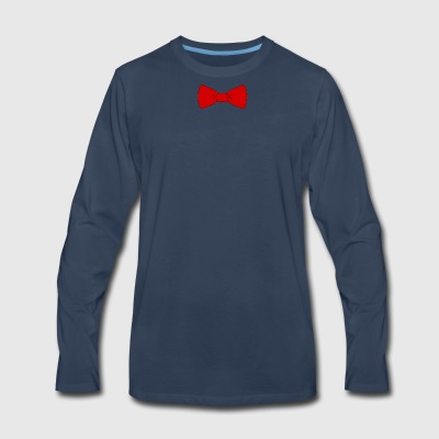 red bow tie - Men's Premium Long Sleeve T-Shirt