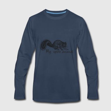Squirrel My spirit animal - Men's Premium Long Sleeve T-Shirt