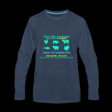 MAKE THE CONNECTION THEY ARE SOMEONE - Men's Premium Long Sleeve T-Shirt