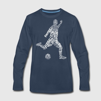 Soccer Player In Different Languages - Men's Premium Long Sleeve T-Shirt