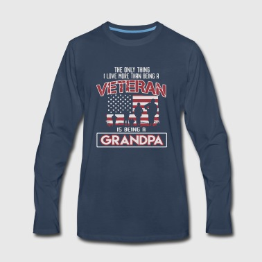 Veteran is being a Grandpa - Men's Premium Long Sleeve T-Shirt