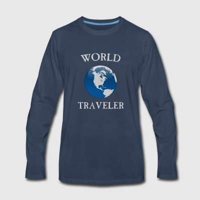 world traveler - Men's Premium Long Sleeve T-Shirt