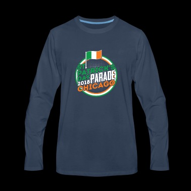 St. Patrick's Day Parade Chicago 2018 Ireland Flag - Men's Premium Long Sleeve T-Shirt