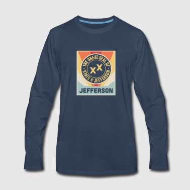State Of Jefferson | Retro Vintage Style Poster - Men's Premium Long Sleeve T-Shirt