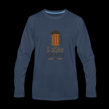 Craft Beer Love Brewery Gift - Men's Premium Long Sleeve T-Shirt