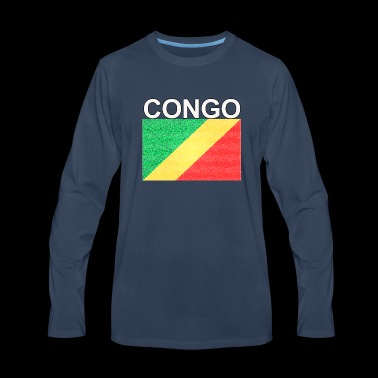 republic of congo flag colored sand effect design - Men's Premium Long Sleeve T-Shirt