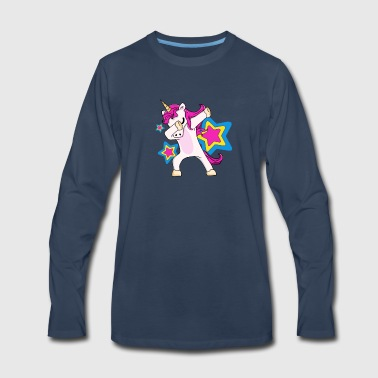 Dabbing Unicorn Shirt Dab Funny Magic Hip Hop - Men's Premium Long Sleeve T-Shirt
