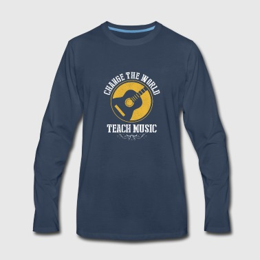 Music Guitar Teacher Gift - Men's Premium Long Sleeve T-Shirt