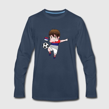 Dab Dabbing Soccer Boy World Cup Russia Gift - Men's Premium Long Sleeve T-Shirt