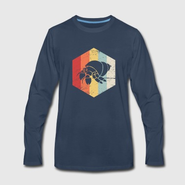 Retro Vintage Hermit Crab Icon - Men's Premium Long Sleeve T-Shirt