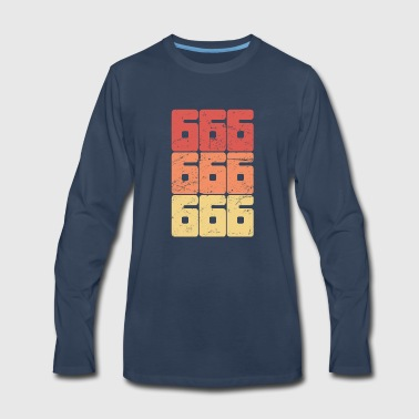 Retro 666 Satanic Text - Men's Premium Long Sleeve T-Shirt