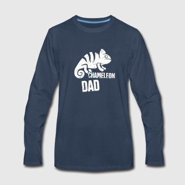 Funny Chameleon Dad Graphic - Men's Premium Long Sleeve T-Shirt