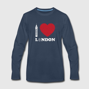 I Love London - Big Ben And Ferris Wheel Great - Men's Premium Long Sleeve T-Shirt
