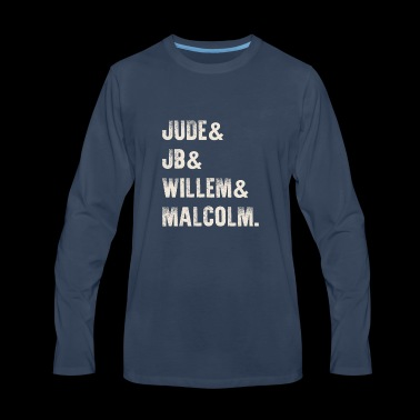 Jude JB Willem Malcolm Vintage T-Shirt - Men's Premium Long Sleeve T-Shirt