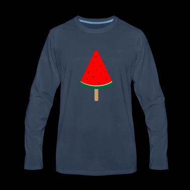 Watermelon Popsicle Summer By Melon Merch - Men's Premium Long Sleeve T-Shirt