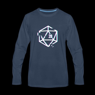 Glitched d20 | Roleplaying Board Game - Men's Premium Long Sleeve T-Shirt