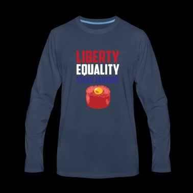 Liberty, Equality Steak Tartare Funny French Food - Men's Premium Long Sleeve T-Shirt
