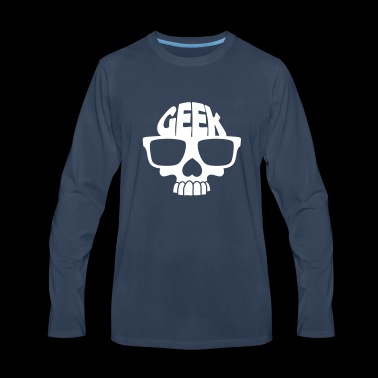Nerd skull for geeks - Men's Premium Long Sleeve T-Shirt