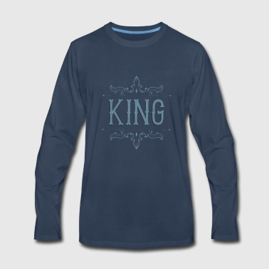 King. Prince. Partner. Queen. Love. Lettering - Men's Premium Long Sleeve T-Shirt