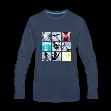 Trek Square - Men's Premium Long Sleeve T-Shirt