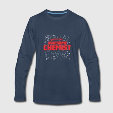 WORLDS MOST AWESOME CHEMIST rot - Men's Premium Long Sleeve T-Shirt