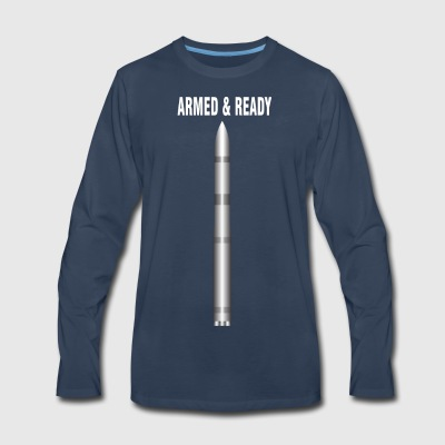 ARMED READY WHITE - Men's Premium Long Sleeve T-Shirt