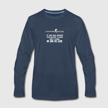 Best CSGO Shirts | Win More Rounds | CSGO Tshirts - Men's Premium Long Sleeve T-Shirt