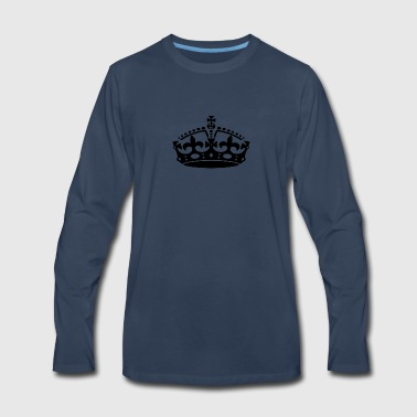 KEEP CALM CROWN - Men's Premium Long Sleeve T-Shirt