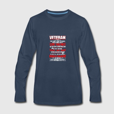 Veteran T Shirt - Men's Premium Long Sleeve T-Shirt