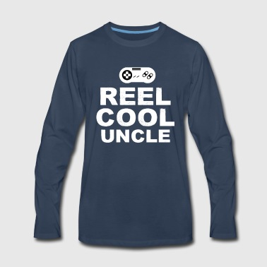 Reel Cool Uncle Shirt Father's Day Gamer Tee - Men's Premium Long Sleeve T-Shirt