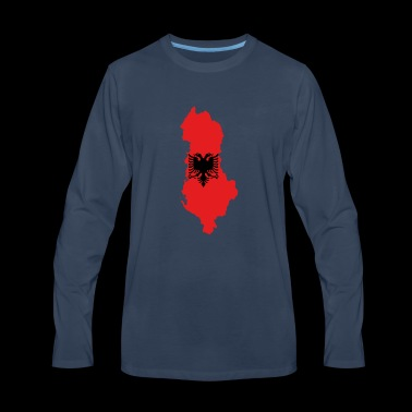 Flag map of Albania svg - Men's Premium Long Sleeve T-Shirt