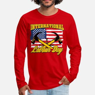 Labour Day INTERNATIONAL WORKER S DAY I-Labour day - Men's Premium Longsleeve Shirt