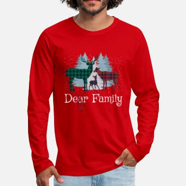 Christmas Dear Deer Family - Men's Premium Longsleeve Shirt